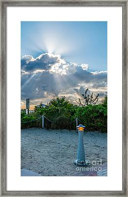 Earthly Light And Heavenly Light  Framed Print
