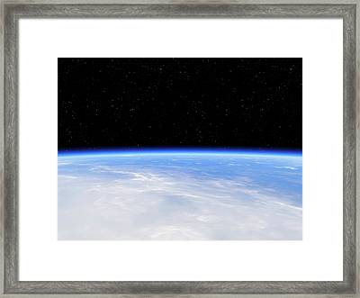 Earth's Atmosphere From Orbit Framed Print by Detlev Van Ravenswaay