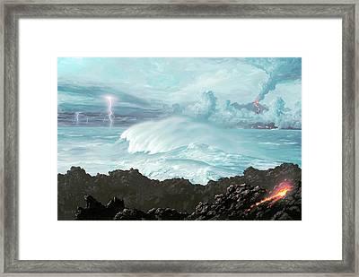 Earth's First Oceans Framed Print by Richard Bizley
