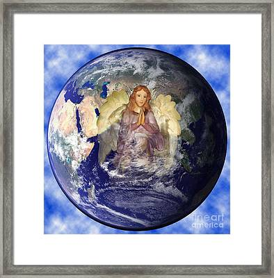 Earths Guardian Angel Framed Print by The Kepharts