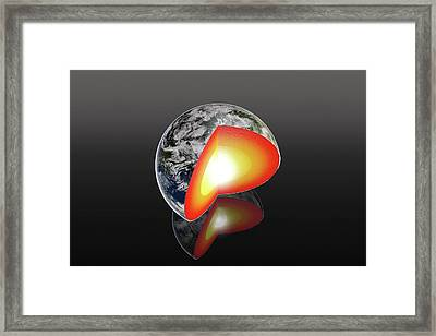 Earth's Internal Structure Framed Print by Peter Matulavich
