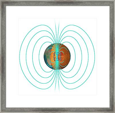 Earth's Magnetic Field Framed Print by Claus Lunau