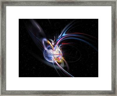 Earth's Magnetosphere Framed Print by Equinox Graphics