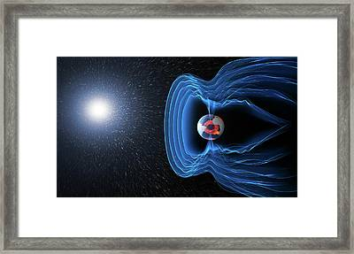 Earth's Magnetosphere Framed Print by Esa/atg Medialab