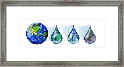 Earth's Water Resources Framed Print by Nicolle R. Fuller