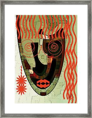 Earthy Woman Framed Print