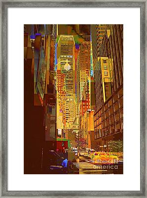 East 45th Street - New York City Framed Print