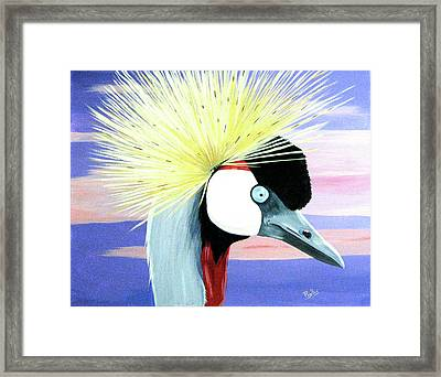 East African Crowned Crane Framed Print by Phyllis Kaltenbach