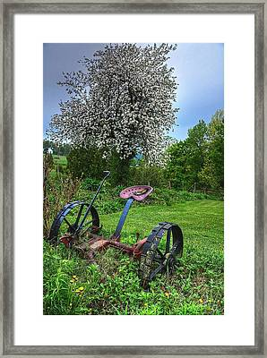 East Albany Mower Framed Print