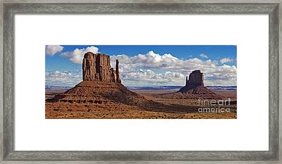 East And West Mittens Framed Print by Jerry Fornarotto
