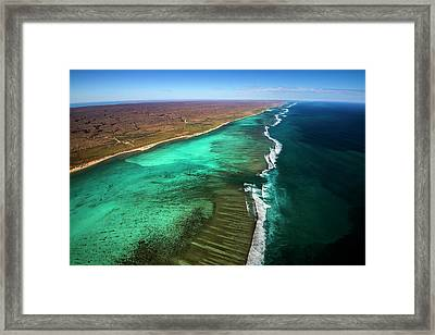 East And West Ningaloo Framed Print by Migration Media - Underwater Imaging