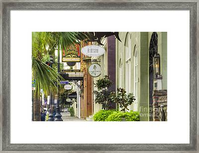 East Bay Street Charleston Sc Framed Print