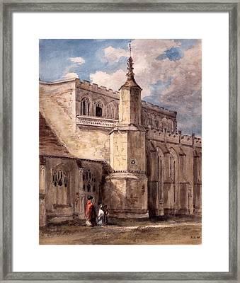 East Bergholt Church, Northside Framed Print by John Constable