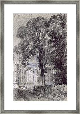 East Bergholt Church - West End Framed Print by John Constable