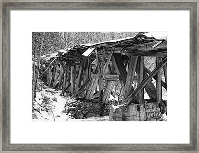 East Branch And Lincoln Railroad - Timber Trestle 16 Framed Print by Erin Paul Donovan