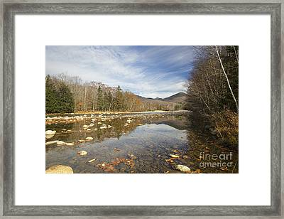 East Branch Of The Pemigewasset River - Lincoln New Hampshire Autumn Framed Print