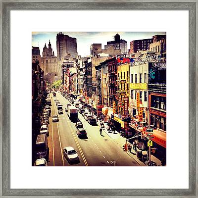 East Broadway - Chinatown - New York City Framed Print