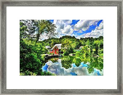 East Calais Mill Pond Framed Print