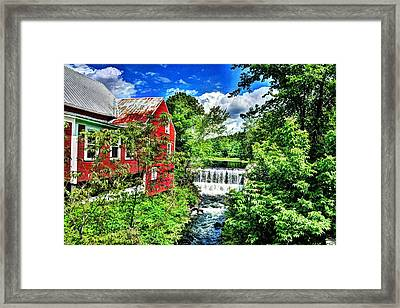East Calais Water Powered Mill Framed Print