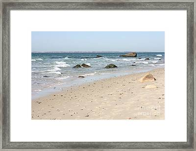 East Coast Beach Framed Print by Carol Groenen