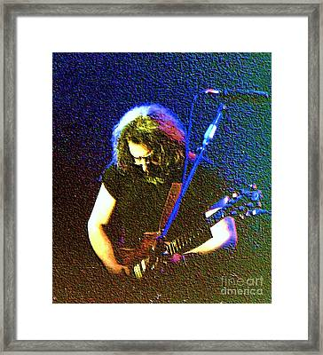 Grateful Dead - East Coast Tour - Jerry Garcia Framed Print by Susan Carella