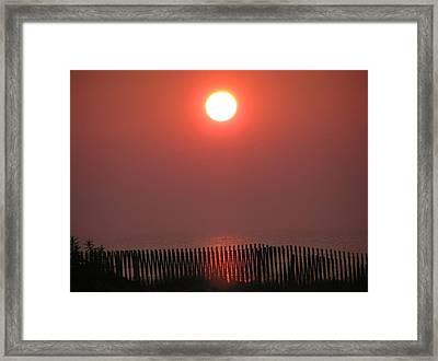 East Coast Sunrise Framed Print by John Wartman