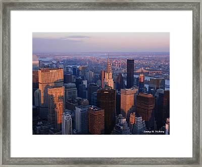 East Coast Wonder Aerial View Framed Print