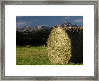 East Dallas Divide Mt Sneffels Framed Print by Robert Lozen