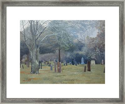 East End Cemetery Amagansett Framed Print