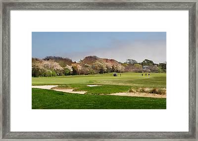 East End Golf Framed Print by Alida Thorpe