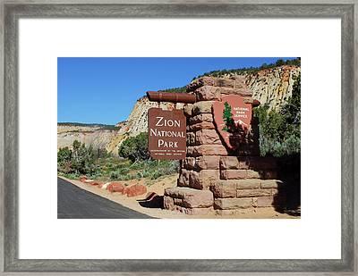 East Entrance, Zion National Park, Utah Framed Print by Lynn Seldon