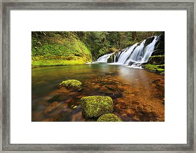 East Fork Coquille Falls Framed Print