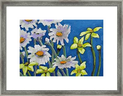 Framed Print featuring the painting East Garden I by Susan  Spohn