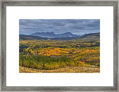 East Glacier Autumn Colors Framed Print by Mark Kiver