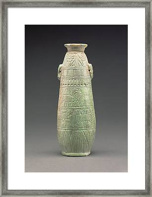East Greek Faience Alabastron Unknown East Greece About 580 Framed Print by Litz Collection