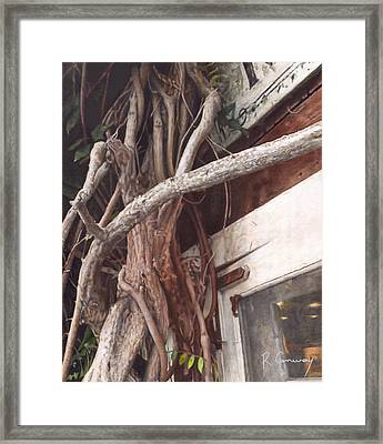 East Hamptons Shop Framed Print by Robert Conway