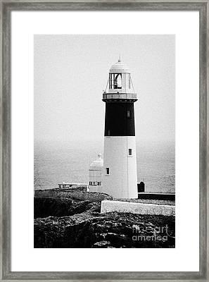East Light Lighthouse Altacarry Altacorry Head Rathlin Island  Framed Print by Joe Fox
