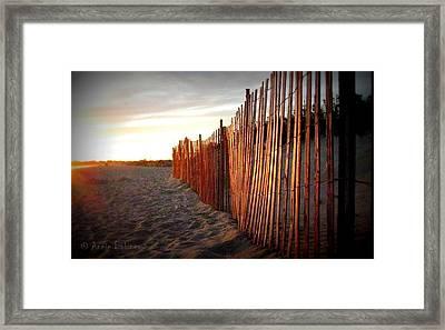 East Matunuck Sunset Framed Print by Anne Babineau
