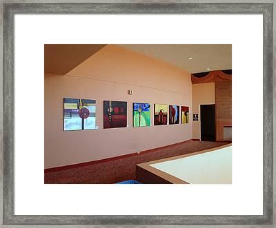 East Mezzanine Asu Gammage Installation Framed Print