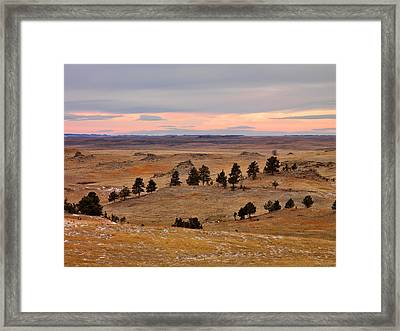 East Montana Country Framed Print by Leland D Howard