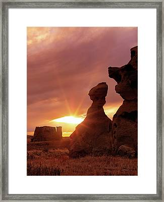 East Montana Medicine Rocks Framed Print