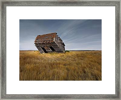 East Montana Texture Framed Print by Leland D Howard