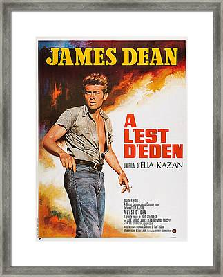 East Of Eden, French Poster Art, James Framed Print