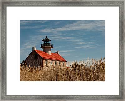 East Point Across The Marsh Framed Print