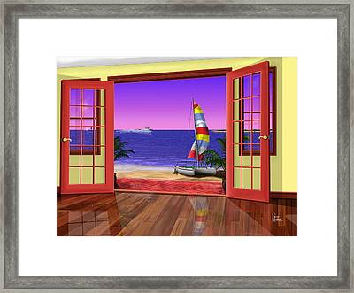 East Point At The Bay Framed Print by Patrick Belote
