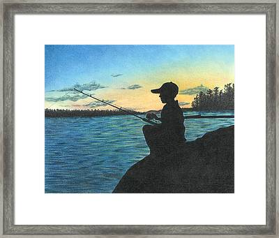 East Pond Framed Print by Troy Levesque