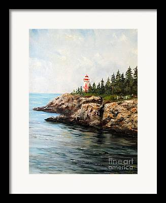 East Quoddy Lighthouse Paintings Framed Prints