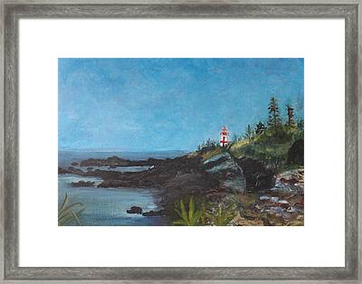 East Quoddy Head Lighthouse Framed Print by Donna Walsh