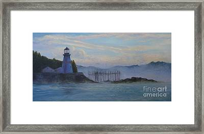 East Quoddy Light Framed Print by Julie Hart