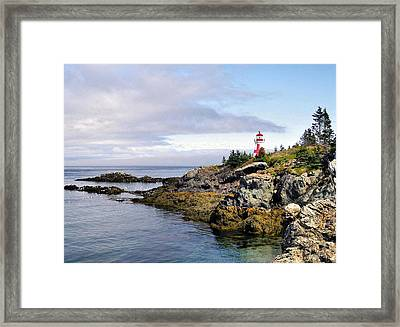 East Quoddy Light Framed Print by Monnie Ryan